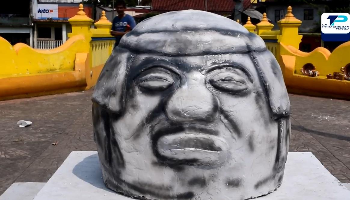 9e1f053d2e0 Réplica de Cabeza Olmeca en Santiago Tuxtla desata burlas y memes – La  Primerísima 92.7 FM